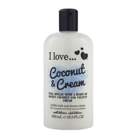 I Love Cosmetics Wanna i prysznic Krem o zapachu kokosa i słodkiej śmietanki (Coconut & Cream Bubble Bath and Shower