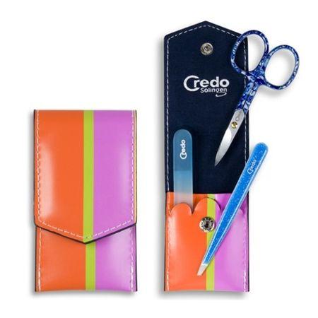 Credo Solingen Luksusowe 3 Kawałek Manicure Pop Art 3 - niebieski