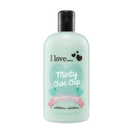 I Love Cosmetics Kúpeľový a sprchovací krém s vôňou mäty (Minty Choc Chip Bath & Shower Cream) 500 ml