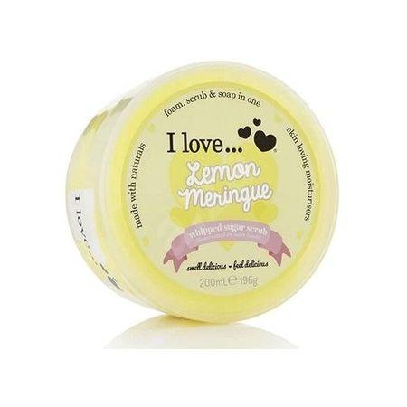 I Love Cosmetics Tělo vý peeling z našľahaného cukru s vôňou citrónových snehových pusiniek (Lemon Meringue Whipped S