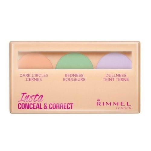 Rimmel Paletka korektorů na pleť (Insta Conceal & Correct Palette) 9 g (Odstín 001)