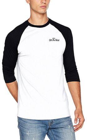 Vans Pánske tričko Original Lockup Pkt Raglan White/Black VA36GGYB2 (Veľkosť XL)