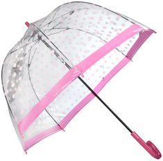 Dámsky priehľadný palicový dáždnik Birdcage 2 raining BUTTERFLIES L042