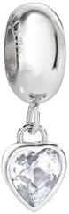 Morellato Drops szív nemesacél medál színtiszta kristállyal SCZ902