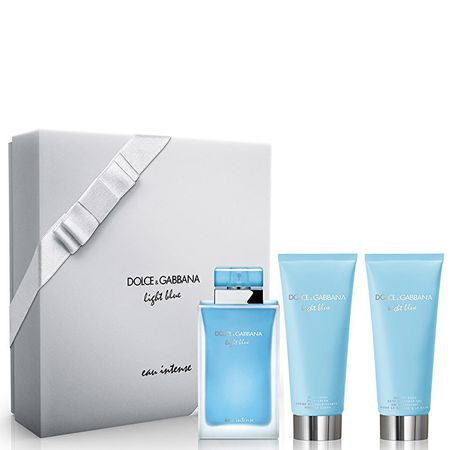 Dolce & Gabbana Light Blue Eau Intense - EDP 100 ml + tělový krém 100 ml + sprchový gel 100 ml