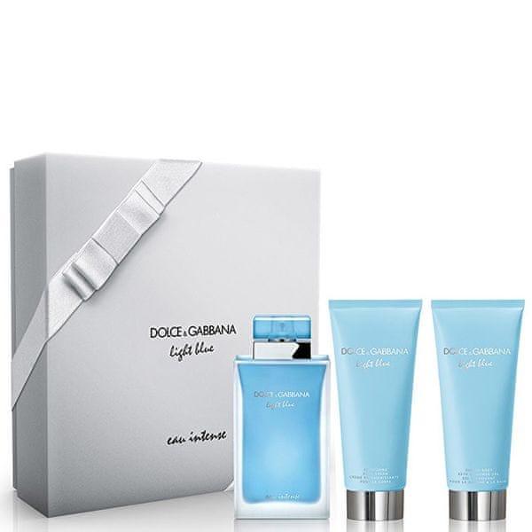 Dolce & Gabbana Light Blue Eau Intense - EDP 100 ml + tělový krém 100 ml + sprchový gel 100 ml