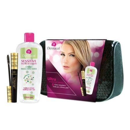 Dermacol Zestaw upominkowy dla kobiet Kształtowanie i wydłużając mascara Ultratech & Sensitive płyn micelarny