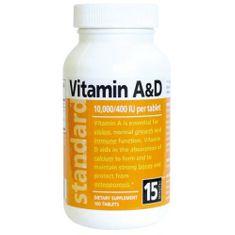 Natural Vitamín A/D 10 000/400 IU 100 tablet