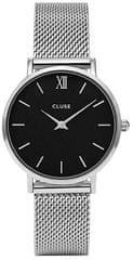Cluse MinuitMesh Silver/Black CL30015