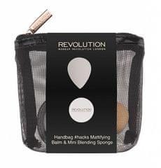 Makeup Revolution Cestovná sada na tvár Handbag hacks Mattifying Balm & Mini Blending Sponge