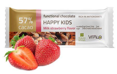 Vitalo Funkční čokoláda Happy Kids - Milk strawberry Flavor 25g