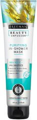 Freeman Čisticí maska do sprchy Mořské řasy + Probiotika + sérum Beauty Infusion 118 ml