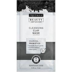 Freeman Čisticí jílová maska Aktivní uhlí a probiotika Beauty Infusion (Cleansing Clay Mask)