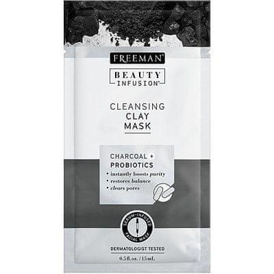 Freeman Oczyszczanie gliny maski Activated Carbon i probiotyki Beauty infuzji (Cleansing Clay Mask)