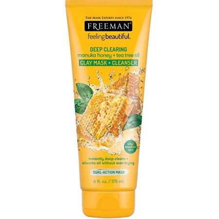 Freeman Hloubkově čisticí jílová maska Manuka med & Tea tree olej Feeling Beautiful (Clay Mask + Cleanser) (