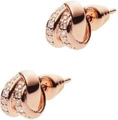 Emporio Armani Bronzové náušnice s krystaly EG3319221 stříbro 925/1000