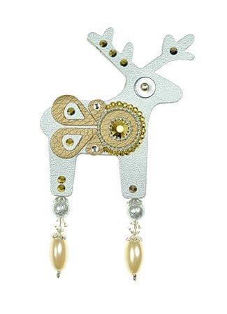 Deers Duży srebrny jeleń Renexia
