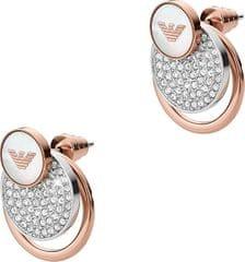 Emporio Armani Luxusní bronzové náušnice s krystaly EGS2364040