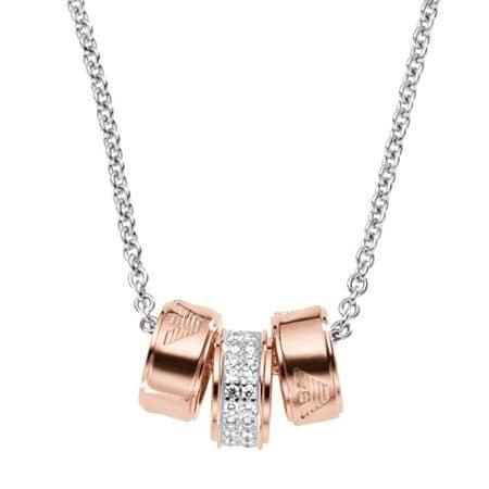 Emporio Armani Srebrny naszyjnik z wisiorki z brązu EG3045040 srebro 925/1000