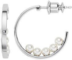 Skagen Půlkruhové náušnice s perličkami SKJ1013040