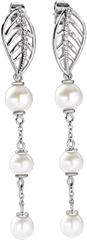 Morellato Romantické náušnice s pravými perlami Foglia AKH14