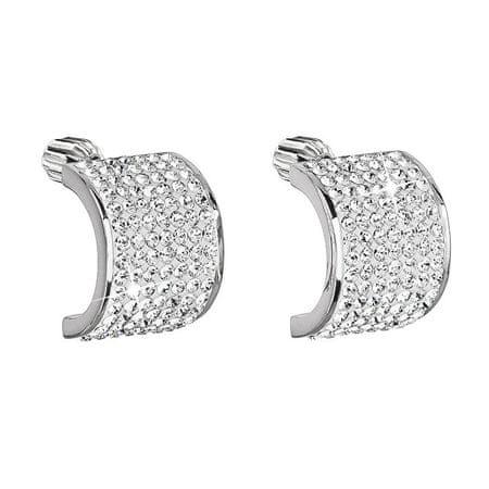 Evolution Group Třpytivé stříbrné náušnice 31195.1 krystal stříbro 925/1000