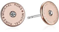 Michael Kors Bronzové náušnice s krystalem MKJ4670791