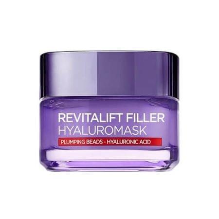 L'Oréal Zmarszczki maska na twarz z kwasem hialuronowym REVITALIFT wypełniacz (Replumping maska) 50 ml