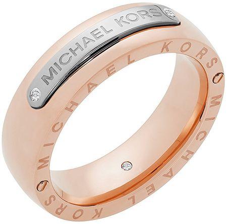 Michael Kors Stalowy pierścień bicolor MKJ6392931 (obwód 59 mm)
