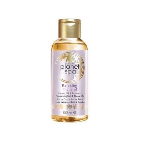 Avon Hydratačný olej do sprchy a do kúpeľa s kokosovým mliekom a santalovým drevom Planet Spa (Moisturisi