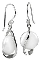 JwL Luxury Pearls Stříbrné náušnice s pravou bílou perlou JL0331 stříbro 925/1000