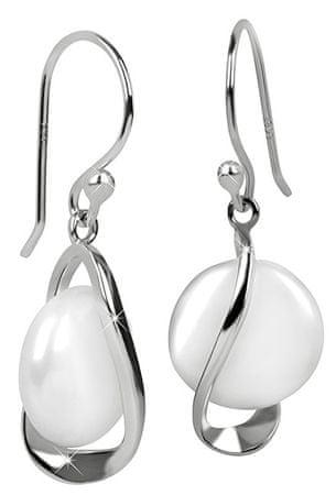 JwL Luxury Pearls Srebrne kolczyki z białą perłą prawej JL0331 srebro 925/1000