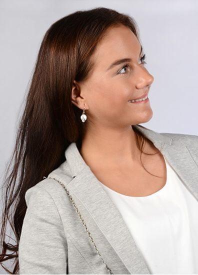 JwL Luxury Pearls Srebrne kolczyki z białą perłą prawej JL0331