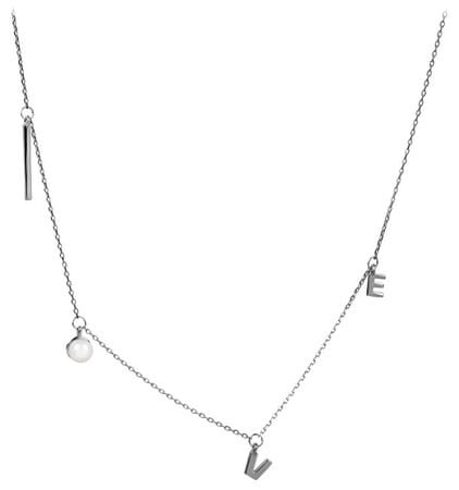 JwL Luxury Pearls Kocham srebrny naszyjnik z prawdziwą perłą JL0340 srebro 925/1000