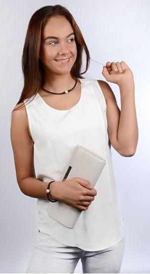 JwL Luxury Pearls Športna biserna ogrlica črna JL0345