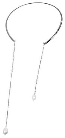 JwL Luxury Pearls Ocelový náhrdelník s pravou perlou JL0346ch