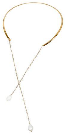 JwL Luxury Pearls Pozlacený náhrdelník s pravou perlou JL0347ch