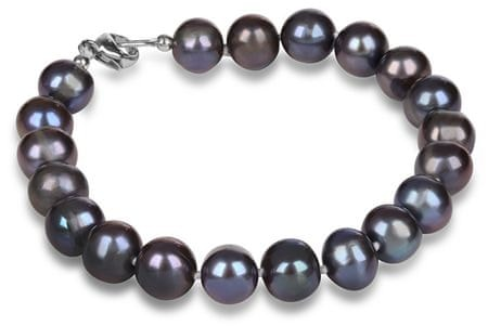 JwL Luxury Pearls Náramek z pravých modrých  perel JL0360 stříbro 925/1000