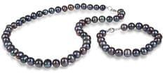 JwL Luxury Pearls Kék színű igazgyöngy ékszer szett JL0370 ezüst 925/1000