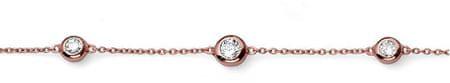 Oliver Weber Różowy pozłacane srebrne bransoletki z jasnego kryształami Tres 63519RG srebro 925/1000
