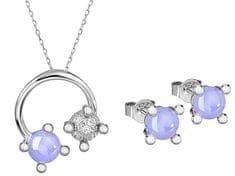 Preciosa Súprava šperkov Blossoms-set Violet 5231 56 striebro 925/1000