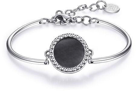 Brosway Ocelový náramek s tmavou perletí Chakra BHK102