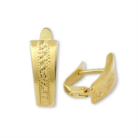 Brilio Zlaté náušnice s ozdobným rytím 231 001 00593 - 1,85 g zlato žluté 585/1000