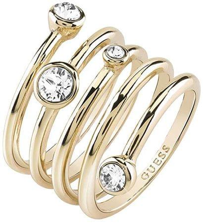 Guess Luxusní spirálovitý prsten UBR84056 (Obvod 52 mm)