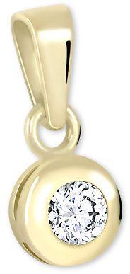 Brilio Zlatý přívěsek s krystalem 246 001 00322 - 0,45 g zlato žluté 585/1000
