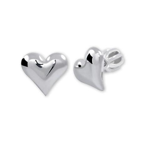 Brilio Silver Srebrne kolczyki serca 431 001 00 440 04 - 0,97 g srebro 925/1000