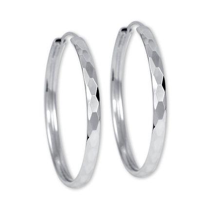 Brilio Silver Srebra kolczyki pierścień 00027 431 158 - 3,74 g srebro 925/1000