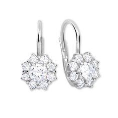 Brilio Silver Stříbrné náušnice s krystaly 436 001 00322 04 - čiré - 2,13 g stříbro 925/1000