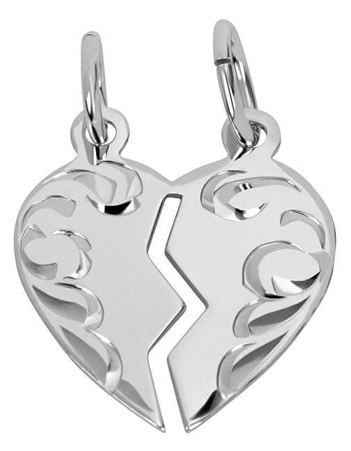 Brilio Silver Stříbrný přívěsek pro páry 441 001 01480 04 stříbro 925/1000