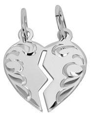 Brilio Silver Kétrészes szív medál pároknak 441 001 01 480 04-0,90 g ezüst 925/1000